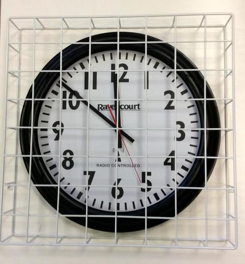 Wire Mesh Clock Security Guard 70 X 70cm Protect Your
